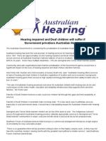 Media Release-Australian Hearing