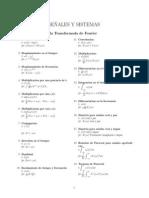 Formulario Tranformada de Fourier