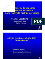 3-6 Spasticité (Dr Leclercq)