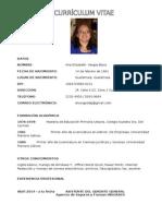 Currículum Vitae de Ana Vargas 2015