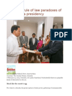 Emergent Rule of Law Paradoxes of the Sirisena Presidency