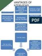 Advantages & Disadvantages of Interviews