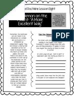 LDS Gospel Doctrine Worksheet New Testament Lesson #8