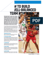 How to build a well balanced team