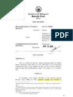 Deutsche Bank Case - Tax Refund