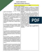 Cuadro Comparativo Articulo 3 y 73