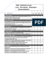 exhibition inquiry process assessment rubric