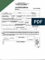 Napolcom Entrance Exam Form 1-A