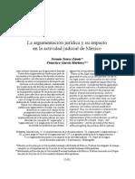 ARGUMENTACION JURIDICA EN ACTIVIDAD JUDICIAL DE MEXICO