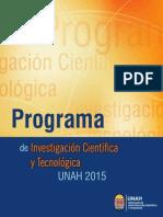 Programa ICyT 2015 UNAH