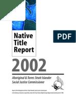 Native Title Report 2002