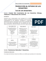 introducción al estudio de los desastres