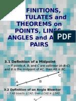 3,5,6 defn postulates - m8, pp 352-354