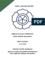 Proposal Usulan Materi