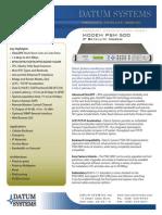 Datum PSM-500 Datasheet