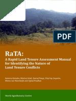 A Rapid Land Tenure Assessment Manual