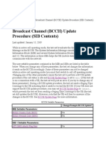 Broadcast Channbel (BCCH) Update Procedure (SIB Contents)