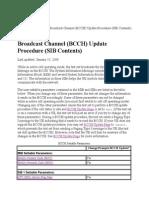 Broadcast Channbel (BCCH) Update Procedure (SIB Contents)