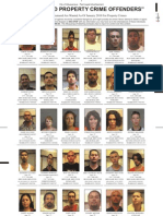 Most Wanted Property Crime Offenders, Jan. 2010
