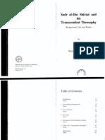 Transcendent Theosophy - Mulla Sadra - Hossein Nasr