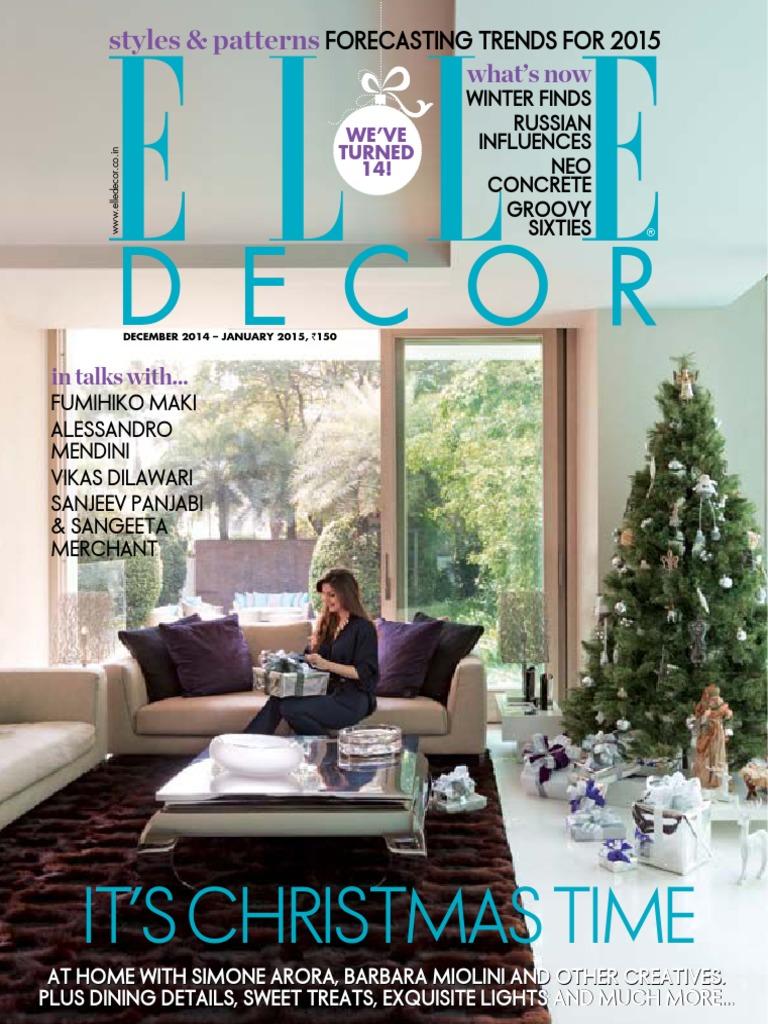 Elle Decoration India - December January 2015   3 D Printing