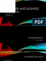 Transfer and Business Taxation (Preliminaries)