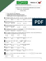 Matematica Clasa VII Etapa II