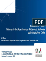 Terremoto in Emilia - l'intervento del DPC