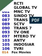 CHANEL TV INDOVISION