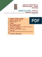 LAMPEA-Doc 2010 – numéro 3 / Vendredi 22 janvier 2010