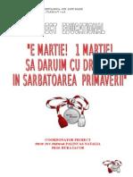 1 Martie Proiect Educational.