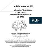 Headteachers Roundtable Education Election Manifesto National Bacc Policy Up-date Final