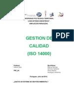 Gestion de Calidad ISO 14000