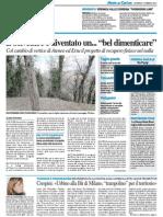 """Il belvedere è diventato un """"bel dimenticare"""" - Veronica Valle coordina """"Fuorikorso link"""" - Il Resto del Carlino del 15 febbraio 2015"""