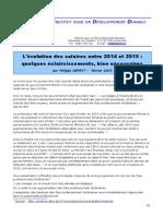 Salaires 2014 2015