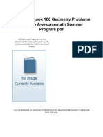 106GeometryProblemsfromtheAwesomemathSummerProgram
