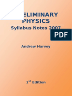 Andrew Harvey HSC Preliminary Course Physics Notes