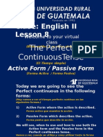 Ingles 2 Clase 8 Perfect Continuous Tenses Active and Passive Form