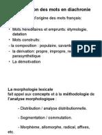 La Morphologie Lexicale