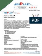 026 Fisa Tehnica ADEPLAST Aeria Cu Porus X Pentru Exterior