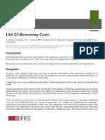 IAS23 Borrowing Cost