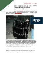 Calefon Solar con botellas de Gaseosas