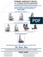 Fixed Stationary Aircraft Seats