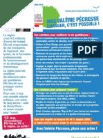 Tract Essonne - Changer l'Ile-de-France avec Valérie Pécresse et NKM