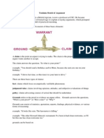 Model Argumentasi Toulmin
