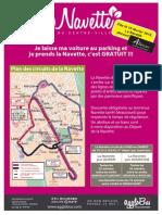 Affiche TRAJET A4 Navette 18 Février 2015