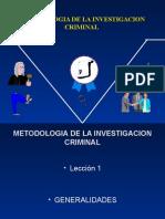 Metodologia de La Investigacion Criminal