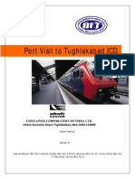 Logistics involved in the Tughalakabad ICD. from procurement to the end customer