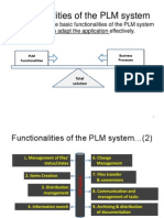 PLM Functionalites