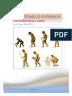 Evolución Contextual de La Gerencia